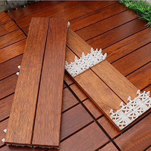 Parquet balcone esterno Piattaforma esterna impermeabile mattone in legno da giardino terrazza cortile ananas reticolo di legno antisettico piano spli