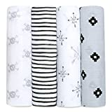 aden + anais Swaddle Blanket, Boutique Muslin Blankets for Girls & Boys, Baby Receiving Swaddles, Ideal Newborn & Infant Swaddling Set, Perfect Shower Gifts, 4 Pack, Love Struck