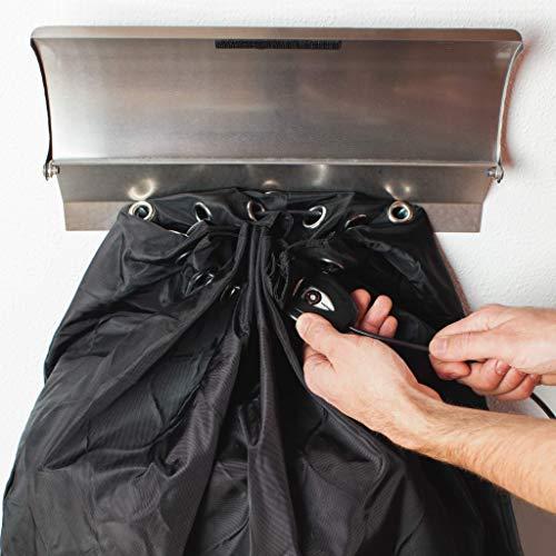 PAKETSAFE – platzsparender Paketsack mit hochwertiger Edestahloptik, anthrazit - 6