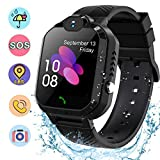 Smart Watch for Kids Students ,Waterproof Kids Smart Watches LBS/GPS Tracker SOS Camera Voice Chat Touch Screen Phone Watch for 3-12 Years Old Students Great Birthday Gift