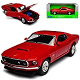 Welly Ford Mustang Boss 429 Coupe Rot Typ I 3. Generation 1969-1970 1/24 Modell Auto