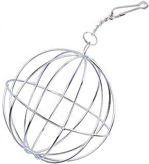 FACAI ヘイヘイ ホルダー チモシー 給餌ボール 牧草ボウル 牧草入れ 網のボール 吊る 兎用 ハムスター対応 ペット用品