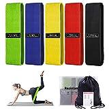 Bandas Elasticas Musculacion 5 Niveles Gomas Elasticas Fitness, Antideslizante Y Duradero Adecuado Mujer Y Hombre, Delgada,Yoga, Equipo de Gimnasio en Casa