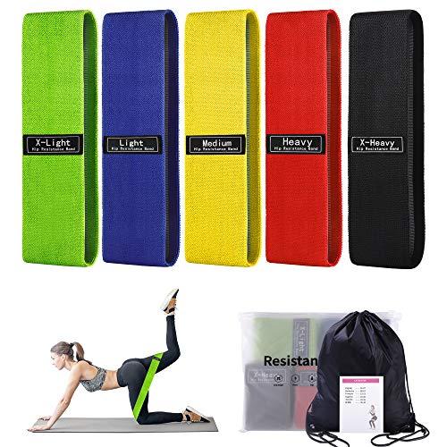 Bandas Elasticas Musculacion 5 Niveles Gomas Elasticas Fitness, Antideslizante Y Duradero Adecuado...