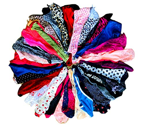 O'Kalyn Varity of Women Underwear Panties Pack Thong G-String T-Back Lacy Tanga Assortment (20 Pcs, Medium)