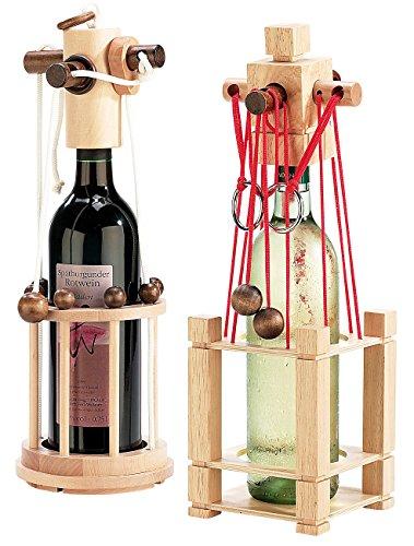 Playtastic Weinflaschenpuzzle: Flaschen-Puzzle 2er-Set: Siena und Verona (Flaschensafe)