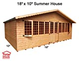 Total Sheds 18ft (4.8m) x 10ft (3m) Summer House Cabin Supreme Cabin