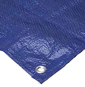Bazic 4 x6  Tarp - Multipurpose Cover or Great Tent For Gardening Camping Traveling Weather-Resistant Small Size Tarpaulin