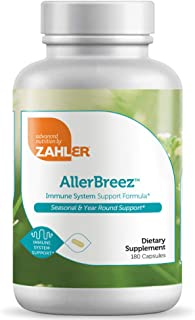 Zahler AllerBreez, Advanced Formula for Allergy Relief, Helps Reduce Seasonal Discomfort and Histamine Control Supplement,...