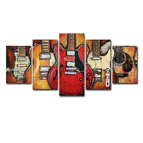 One of ten million to meet you Home Decor Gitarre Comic-Musikplakat + Innenrahmen, geeignet für Studium, Musikzimmer,Large