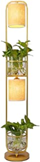 YMLSD Lampadaires, Lampadaires Vertical Lampes Lumières Moderne Décoration Chinoise Plante Fleur Lampadaires, Abat-Jour En...