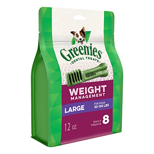 GREENIES Weight Management Large Natural Dog Dental Care Chews Weight Control Dog Treats, 12 oz. Pack (8 Treats)