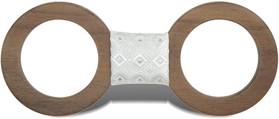 Fashion Wooden Bow Tie, Natural, Handmade, Classic Men's Women's Wooden Bow Tie for Men Women Fashion Creative Round Hollow Wooden Bow Tie Gentleman Bow Tie, Elegant Premium