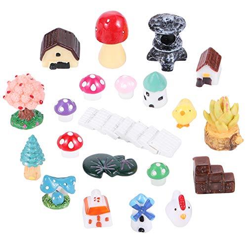 YARNOW 100Pcs Mini Animales Kit de Adornos en Miniatura Beach Ocean Miniatura...