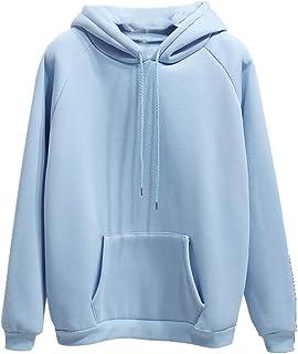 Suéter de manga larga para mujer de felpa y gruesa, color sólido