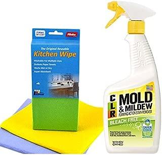 CLR PB-CMM-6 Mold and Mildew Stain Remover, 32 oz. Spray Bottle   Flinka Reusable Kitchen Wipe 2pcs.