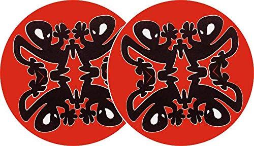 slipmat-Factory Plastikman Schwarz/Rot Quattro Slipmat, 2 Stück