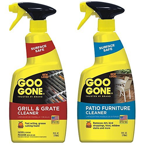 Goo Gone Grill, Grate & Patio Furniture Cleaner - 24 Ounce [2 Pack] - Grill Cleaner and Outdoor Furniture Cleaner