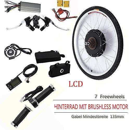 DiLiBee LCD E-Bike Conversion Kit Umbausatz Elektrofahrrad 26 Elektrofahrrad Umbausatz 36V 500W f/ür Hinterrad