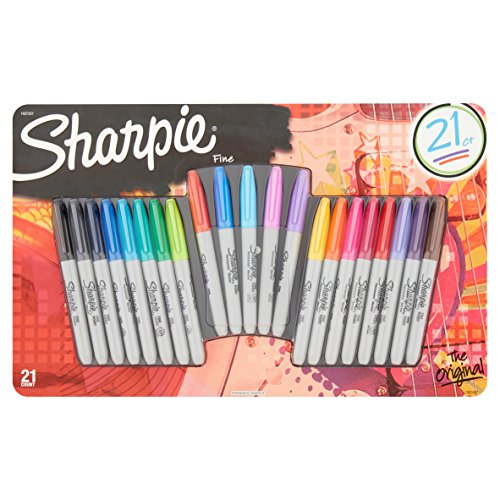 Sharpie Permanent Markers, Fine Point, The Original, Assorted Colors (The Original)