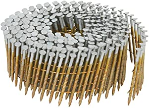 Hitachi 13363 1-3/4-Inch x 0.092-Inch Full Round-Head Ring Shank Hot-Dipped Galvanized Wire Coil Siding Nails, 3600-Pack