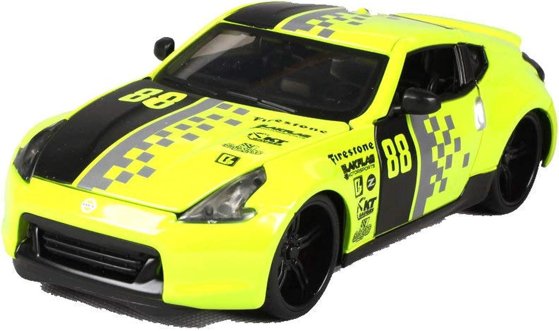 minorista de fitness LUCKYCoche 1 24 2009 Nissan 370Z Modificado, Modelo de Coche Coche Coche de aleación simulada,El capó y Las Puertas Izquierda y Derecha Pueden abrirse,Modelo de Producto Terminado,Modelo estático  nuevo listado