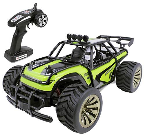 Haktoys Remote Control Truck RC Desert Buggy Car with Rechargeable Battery for Boys Kids and Adults