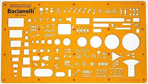 Elektro Symbole Elektrotechnik und Elektronik Elektriker Hausinstallation Schaltzeichen EDV Elektronische Datenverarbeitung DV Programmablaufplan Schablone Zeichenschablone Technisches Zeichnen