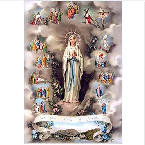 TBFCHL Puzzles Jesús Rompecabezas, Adultos religiosos Rompecabezas de Madera, Niño Adulto Navidad Cumpleaños Día de los niños Regalo, 300 6000 Piezas (Size : 6000P)