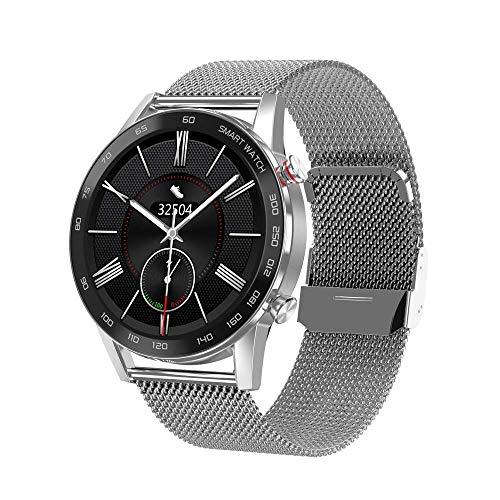 OH Smart Watch, Pantalla Redonda Táctil Inteligente de 1.3 Pulgadas, Podómetro de Deportes de Llamadas de Bluetooth, Datos de Alta Definición a Prueba de Agua, Pulsera, Pulsera Inte