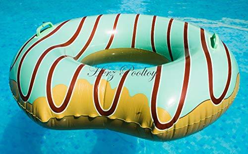 Blue Wave Aufblasbarer Schwimmreifen Donut mit Biss Style ~90 cm Durchmesser Limette