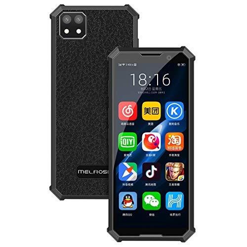 SDJJ Smartphone, Melrose 2019 END mit Fingerabdruck, 1GB + 8GB, 3,46 Zoll, Android 8.1 Quad-Core bis zu 1.28GHz, Unterstützung Bluetooth usw. (Schwarz) (Color : Black)