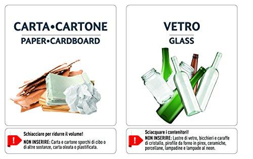 Etichette per gestione rifiuti - KIT 6 ETICHETTE CON FOTO ASSORTITE 95 x 87 mm