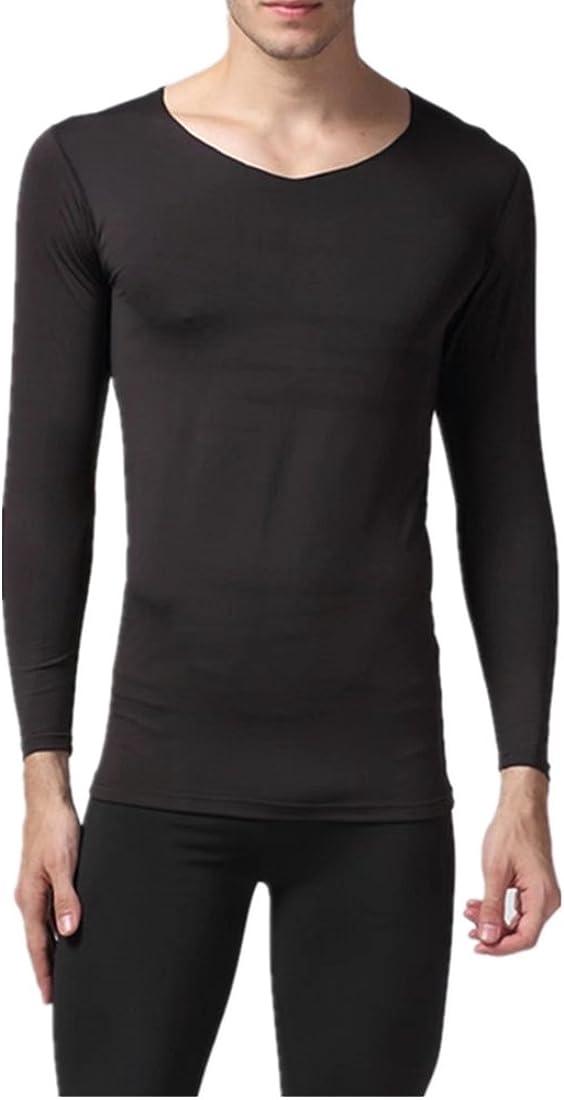 LoveSex Men's Seamless Thermal Underwear Set V Collar Qiuku Autumn Pants Thin Fiber
