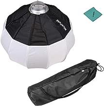 NiceFoto 50cm/20inch Portable Softbox Lantern Style Softbox Ball Shape Soft Box with Bowens Mount Quick-Install Portable for Speedlite Studio Strobe Flash Light