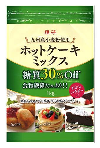 理研農産化工 九州産ホットケーキミックス(糖質30% オフ) 1kg ×3袋