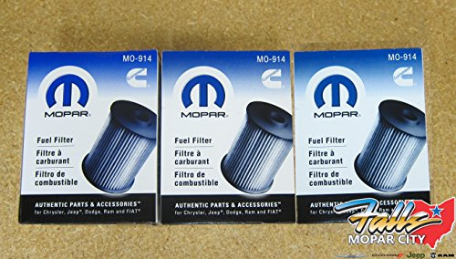 Dodge Ram 2500 3500 5.9L Cummins Diesel Fuel Filters Set Of 3 Mopar OEM
