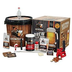 Brewferm Buckrider Belgian Homebrewing Premium Deluxe Brew Kit – Tripel Terror Premium Deluxe Craft Brew Mix – No Boil…