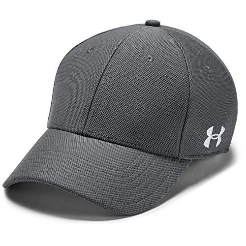Under Armour Blank Blitzing Cap, sportliche Cap, komfortable Kappe mit integriertem Schweißband Herren, Graphite / White , M/L