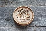 Cuscino anelli matrimonio Cuscino Fedi Portafedi Anello Portatore Personalizzato Nomi e Data Matrimonio rustico Cuscino per anello' Albero dell'amore','Love Tree'