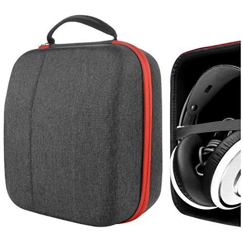 Geekria UltraShell Schutzhülle kompatibel mit AKG Q701, K 712 Pro, K 702, K 701, N90Q, M220, K 99, K 553 Kopfhörer, Ersatz Schutzhülle Hartschale Reisetasche mit Kabelaufbewahrung (Drak Grey)