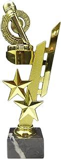 Flamme silbergold RaRu Extravaganter Musik-Pokal Noten mit Ihrer Wunschgravur 3 Sticker