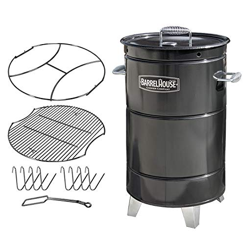 Barrel House Cooker BHC 18C BBQ Charcoal Barrel Smoker Review