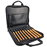 Klein Tools 33524 Tool Kit, 1000V Insulated Nut Driver Set, Sizes 3/16, 1/4, 5/16, 11/32, 3/8,7/16,1/2,9/16,5/8-Inch, with Case, 9-Piece , Orange