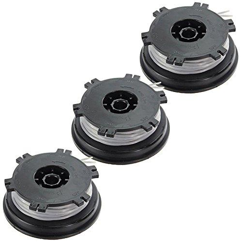 Spares2go Twin Feed double ligne de débroussailleuse et bobine pour Bosch Art35 Art 35 tondeuse (8 M X 1,5 mm, lot de 3)