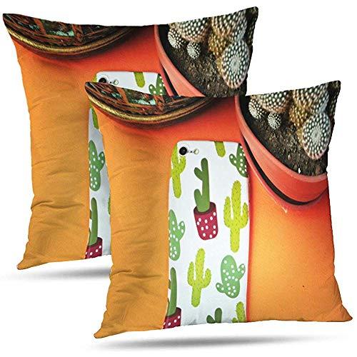 Pamela Hill Juego de 2 Fundas de Funda Black Cell Digital Cojines Decorativos Fundas de colchón para Dormitorio Sofá Sala de Estar 18 x 18 Pulgadas-JDF