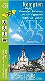 ATK25-Q06 Kempten (Allgäu) (Amtliche Topographische Karte 1:25000): Waltenhofen, Buchenberg, Durach, Wiggensbach, Haldenwang, Sulzberg (ATK25 Amtliche Topographische Karte 1:25000 Bayern)