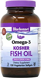 Bluebonnet Nutrition Omega-3 Kosher Fish Oil, 120 Count