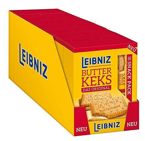 LEIBNIZ Butterkeks - 8 Packungen mit je 8 Snack-Packs à 4 Kekse - Das knackfrische Original in praktischen Snack-Packs - Vorteilspack (8 x 160 g)