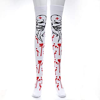 LYX New Stage Props Socks Masquerade Ghost Festival Zombie Nurse Bloody Socks Bloodshed Socks, Holiday Party Props